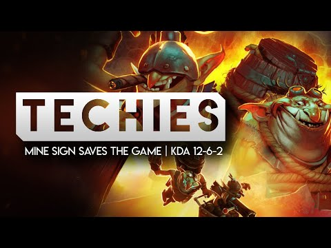 TECHIES MINE SIGN SAVES THE GAME (Techies Full Gameplay 12-6-2)