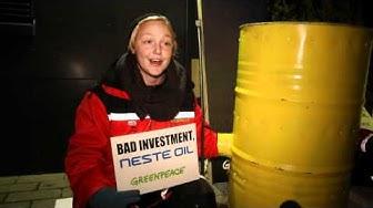 Greenpeacen aktivistit sulkevat Neste Oilin pääkonttorin