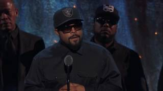 Ice Cube of N.W.A Accepts Rock and Roll Hall of Fame Award