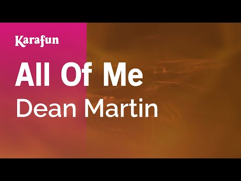 Karaoke All Of Me - Dean Martin *