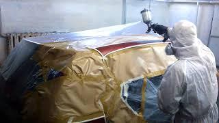 видео локальная покраска авто Киев