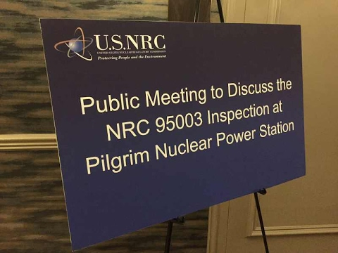 Nuclear Regulatory Commission Public Meeting #Plymouth - January 31, 2017
