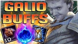 THESE NEW GALIO BUFFS ARE SO BUSTED!! NEW FULL AP GALIO MID GAMEPLAY - League of Legends