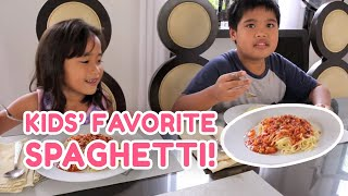 "KIDS' FAVORITE - SPAGHETTI- POKWANG & LEE O""BRIAN - POKLEE COOKING EP 21"