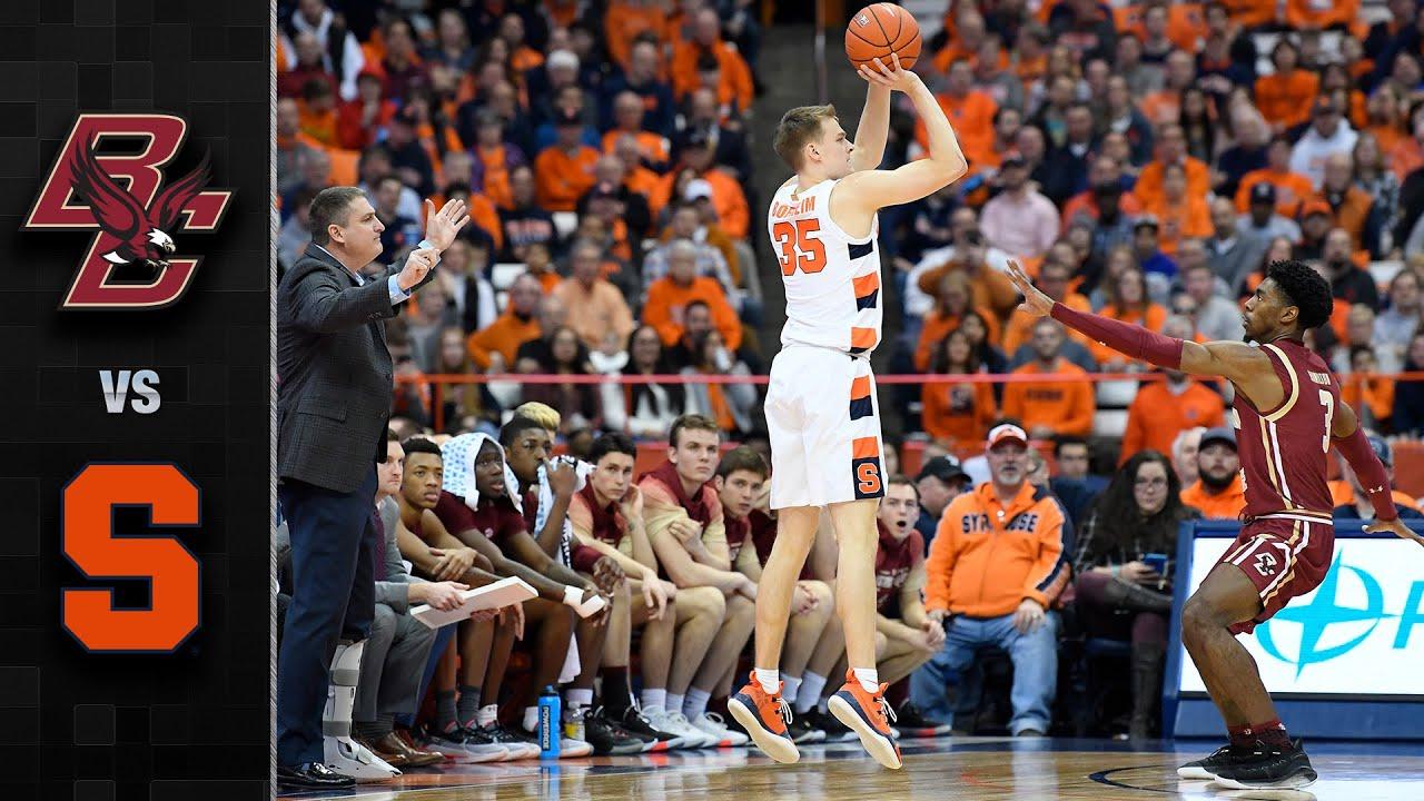 Boston College Vs Syracuse Men S Basketball Highlights