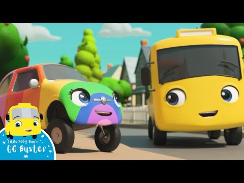 WOW! Buster Brings Color To The World! | Go Buster! | Bus Cartoons For Kids! | Funny Videos & Songs