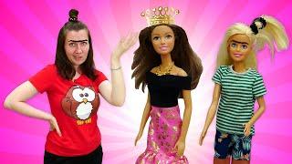 Что кукла Барби сделала сбровями? —Янехочу вшколу: Красота— страшная сила! Видео скуклами