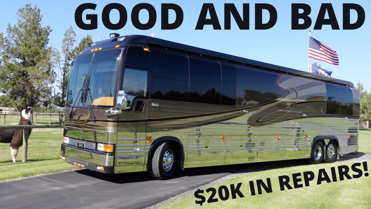 FIRST 4 MONTHS OF OWNING A 18 YEAR OLD PREVOST LIBETY COACH