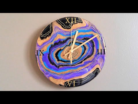 #50- Pouring A Resin Geode Clock, On A Budget!
