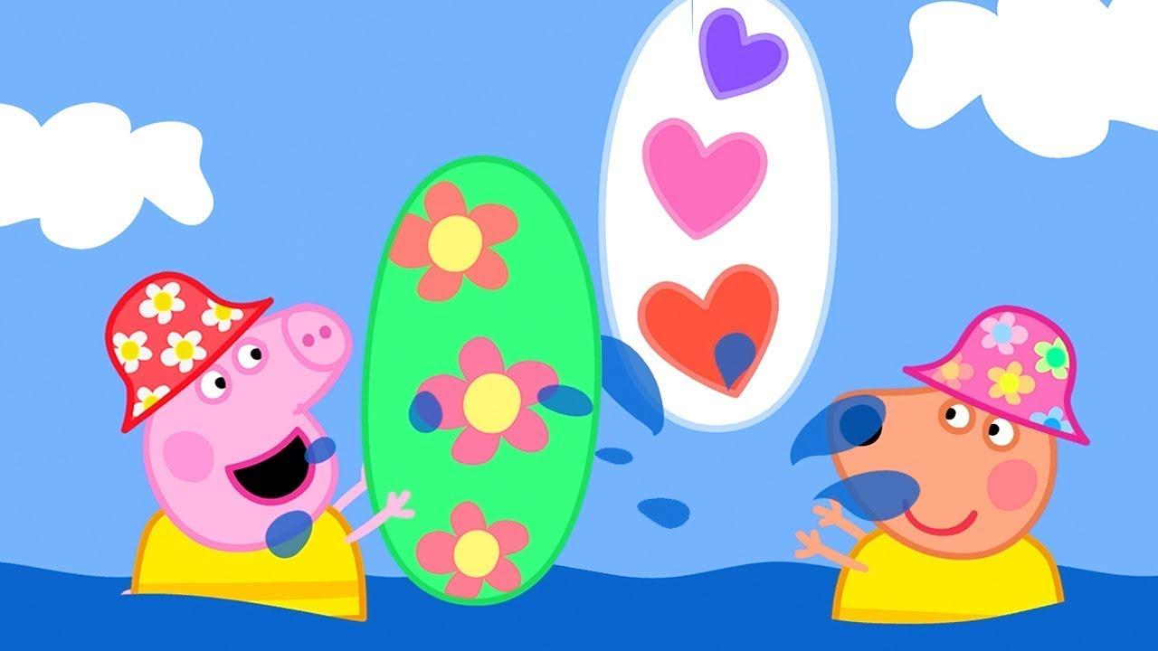 Surfen Lernen mit Peppa und Katinka 🌊 Cartoons für Kinder   Peppa Wutz Neue Folgen