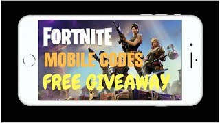 Mobile Fortnite - Free Codes Giveaway (READ DESC)WINNERS ANNOUNCED