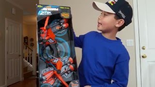 kid s toy review air storm z tek bow arrow by zing
