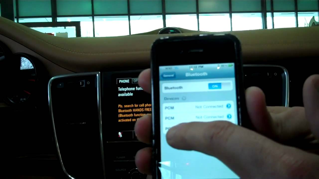 Bluetooth porsche iphone podkluchit