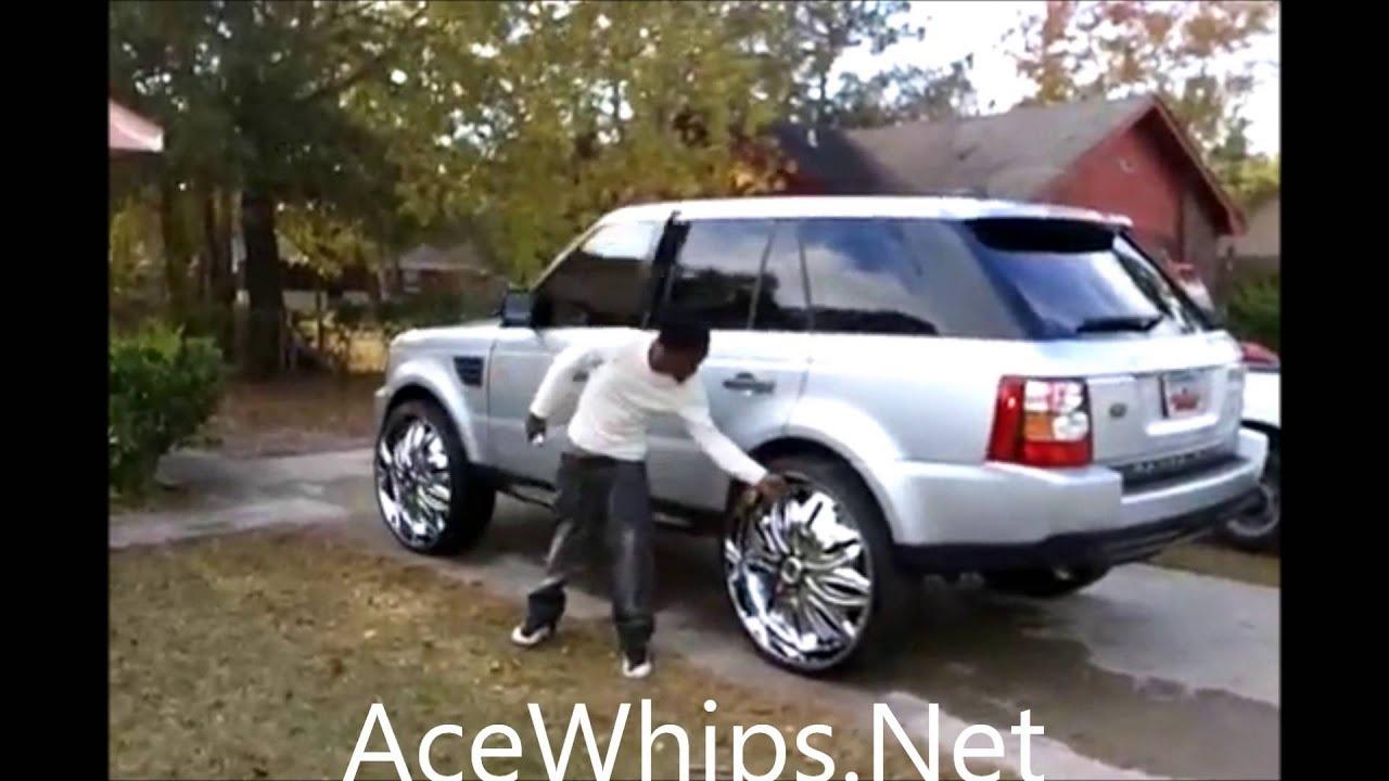"AceWhips NET Silver Range Rover Sport on 28"" DAVIN Trapstar"