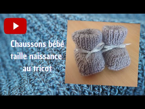 modele tricot chaussons naissance