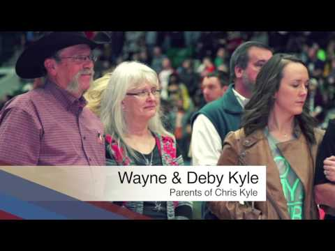 Swypit Honors Chris Kyle at Military Appreciation NIght - Texas Legends
