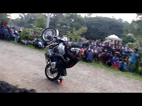 Bullet bike stunts thrissur
