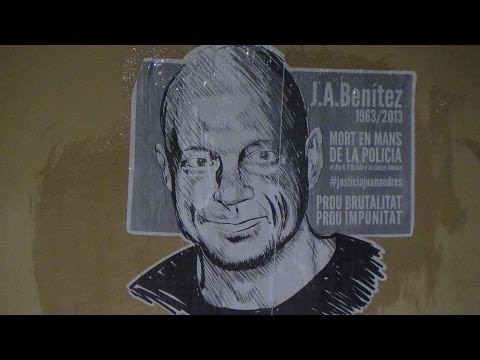 Escarni a Ciutat Vella, per la mort de Juan Andrés. 30-10-2013