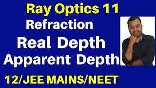 Ray Optics 11 : Real Depth and Apparent Depth - Complete Concept with Best Numericals JEE/NEET