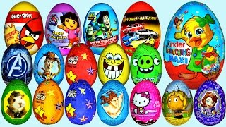 50 Surprise eggs Ну, погоди! Маша и Медведь Kinder Surprise Peppa Pig Dora the Explorer Surprise
