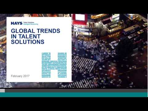 Top Global Trends in Talent Solutions 2017