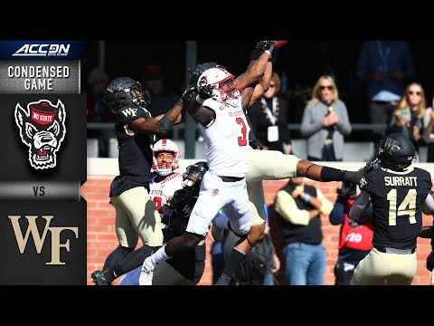 NC State Vs. Wake Forest Condensed Game | ACC Football 2019-20