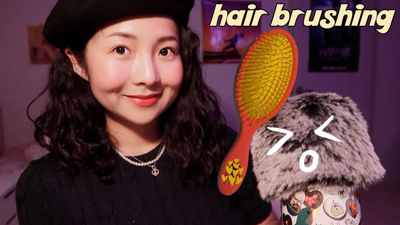 [한국어 Korean ASMR] 머리 빗겨 줄게요☺️ brushing your hair (마이크 브러싱, mic brushing, touching)