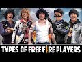 TYPES OF FREE FIRE PLAYERS | GARENA FREE FIRE | #Funny #Bloopers || MOHAK MEET