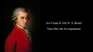 ave verum k 618 w a mozart tenor part