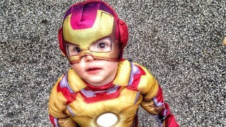 baby s first trick or treat adorable iron man