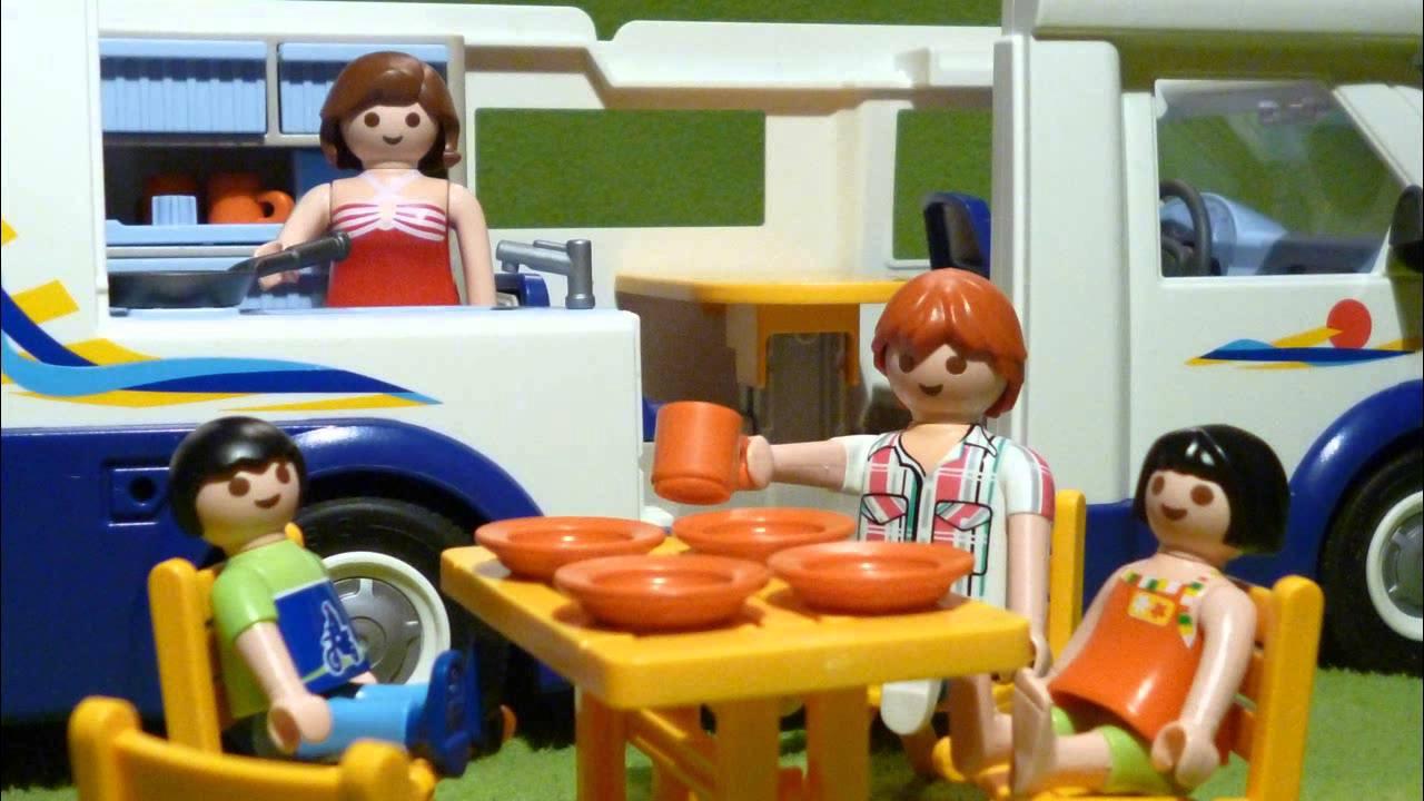 Playmobil family motorhome youtube for Autocaravana playmobil