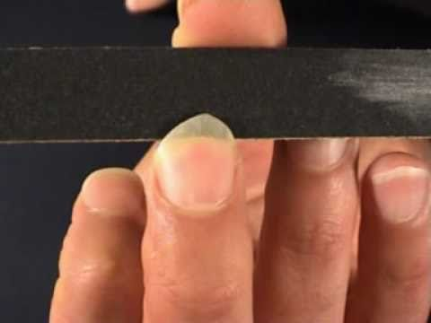 Tone Production On The Classical Guitar Shaping Filing Fingernails