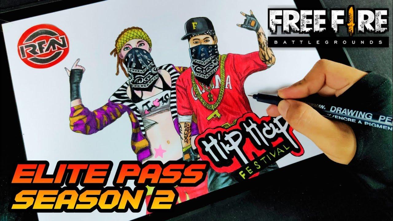 Menggambar Elite Pass Season 2 Drawing Free Fire Youtube