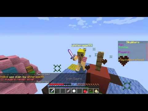 REPORTED HACKER Flying CubeCraft SkyWars Solo | whiterage99
