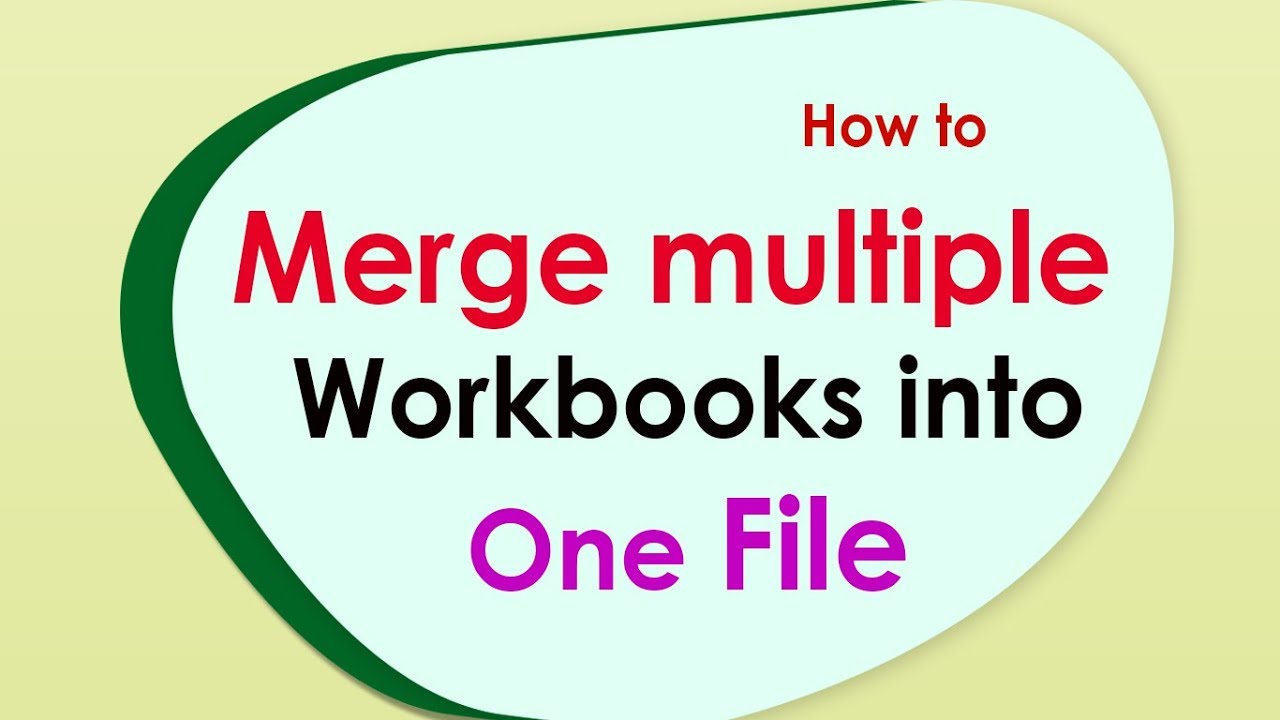 How to combine multiple workbooks to one workbook in excel? - YouTube