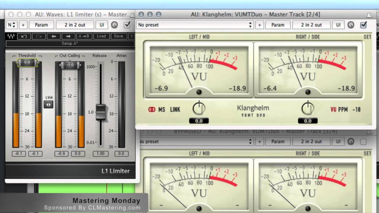 Using A VU Meter To Set Your Limiter - Mastering Monday!