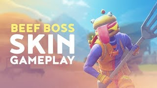 NEW BEEF BOSS SKIN GAMEPLAY! (Fortnite Battle Royale)