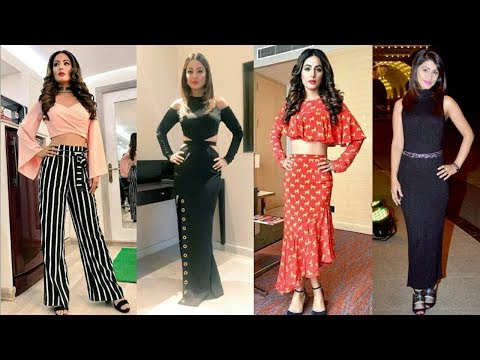 Hina Khan Latest Party Wear Designer Dresses|Long Dress|Designer Collection 2018|Trendy India