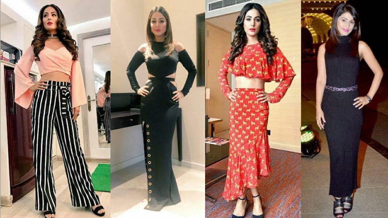 Hina Khan Latest Party Wear Designer Dresses Long Dress Designer