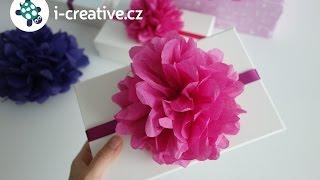Jak vyrobit Pom Pom ozdobu na dárek