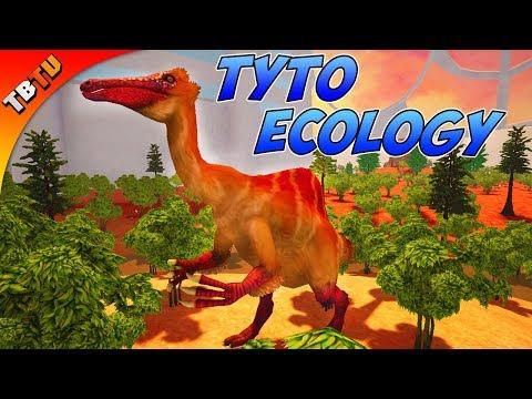 NEW OMNIVORE! ADDING THE DEINOCHERUS TO THE BIOME! Tyto Ecology Cretaceous Mongolia Dinosaur DLC E4