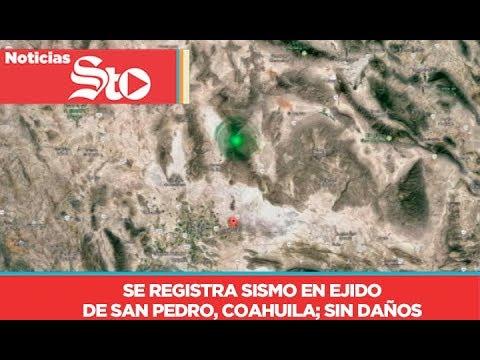 Se registra sismo en ejido de San Pedro, Coahuila, sin reportes