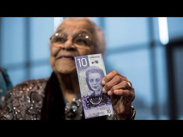 "A new $10 bill featuring civil rights icon Viola Desmond was unveiled in Halifax on Thursday. Desmond's sister, Wanda Robson, thanked the bill's artist for creating a ""beautiful"" and ""unique"" bank note. (The Canadian Press)"