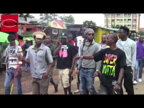 Reggae Star Jah Cure in Kibera