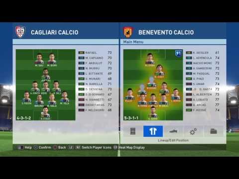 Cagliari v. Benevento Calcio: LIVE