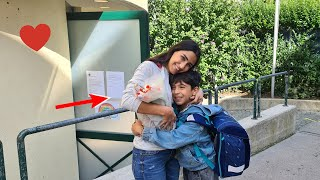 فاجأت ابني بعد المدرسة | قدام رفقاتو !!