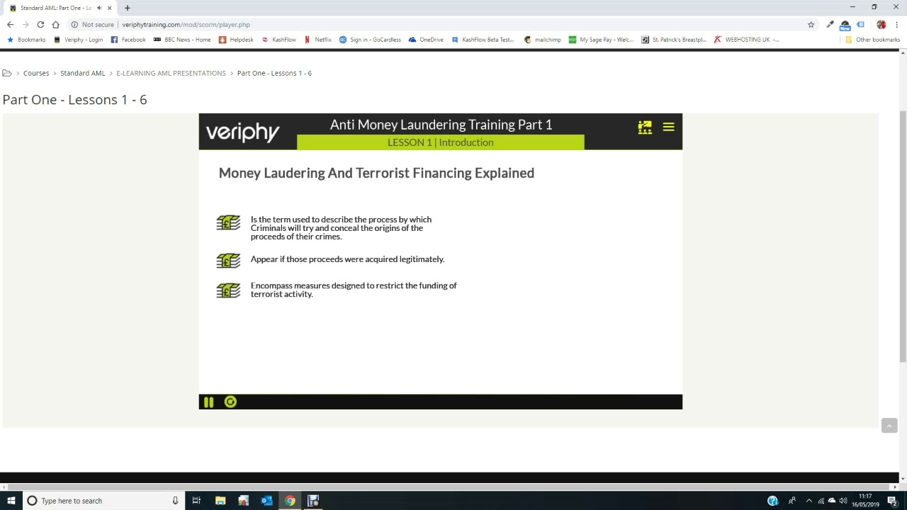 AML Training Course - Online - Veriphy