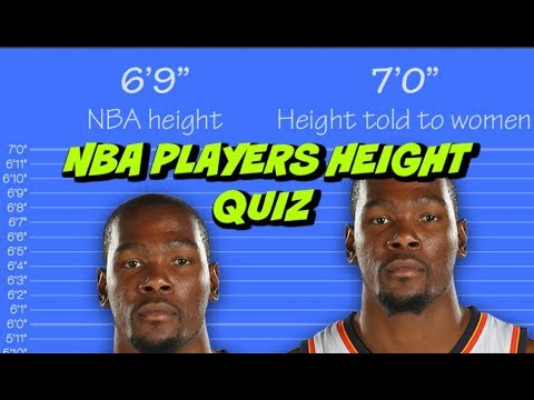 NBA PLAYERS HEIGHT QUIZ ●{GUESS These NBA PLAYER'S HEIGHT}