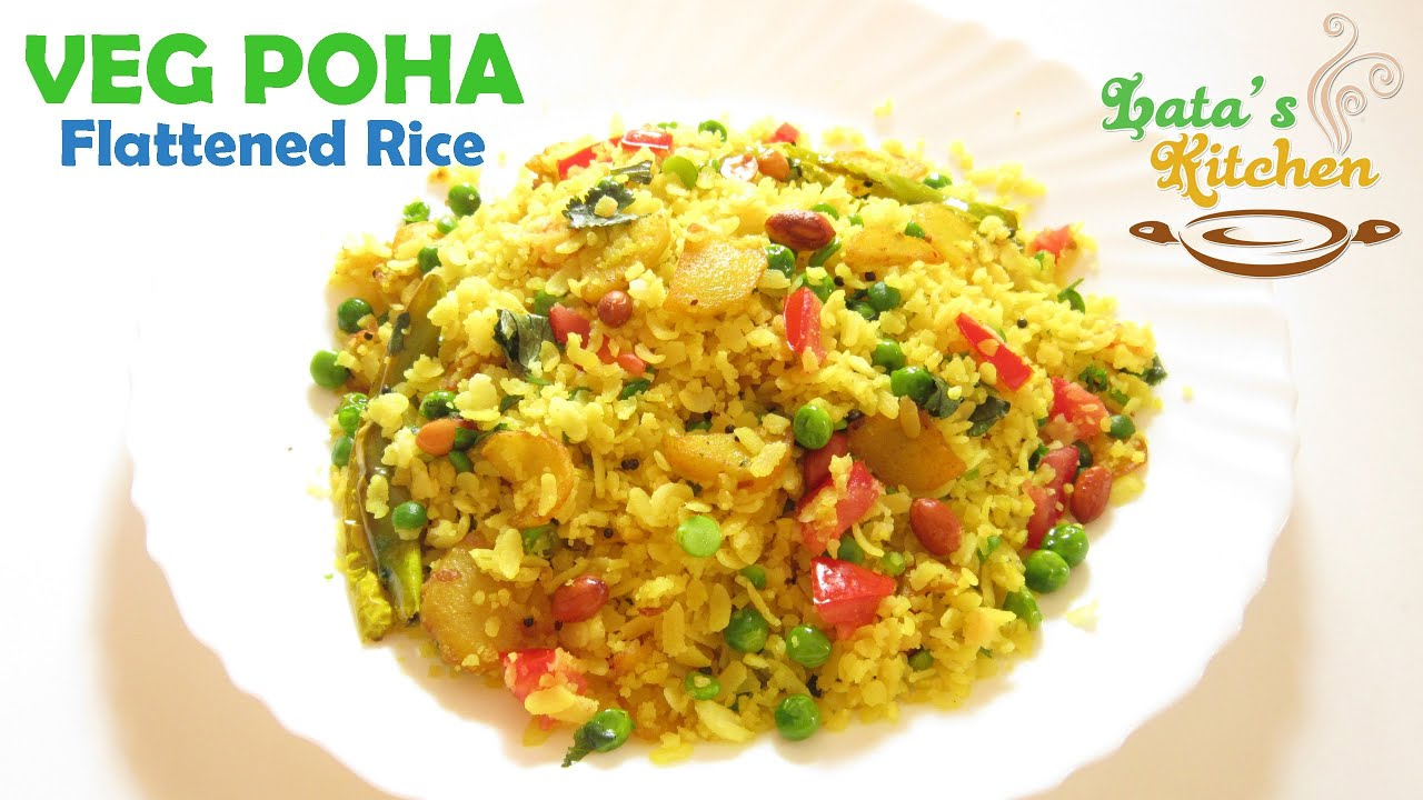 Veg poha recipe flattened rice healthy breakfast recipe in hindi veg poha recipe flattened rice healthy breakfast recipe in hindi latas kitchen youtube forumfinder Images