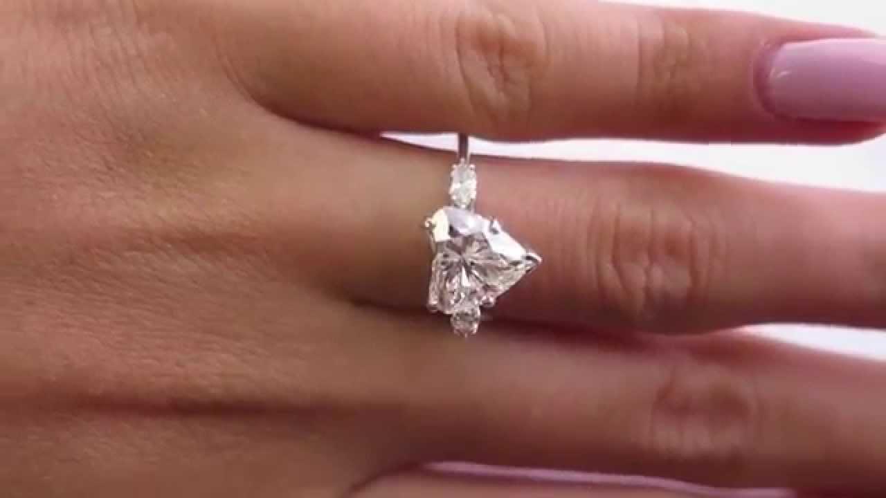 Gia Estate Vintage 280ct Heart Shape 3 Stone Diamond Engagement 14k Gold  Ring